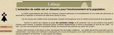 LBDH contre projet Lafarge